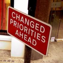 Changed priorities ahead 2