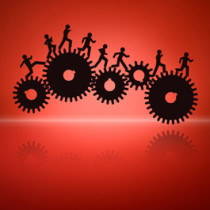 People running on cogs