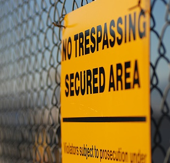 not trespassing