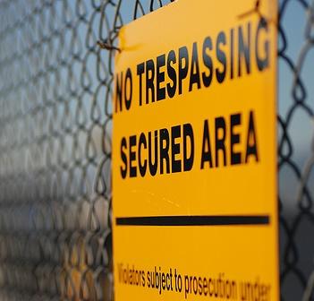 not trespassing